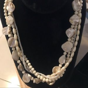 Avon Multi Strand Natural Beaded Necklace